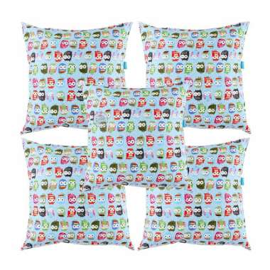 Eolins Baby Owl Biru JSPS043 Sarung Bantal Sofa [5 Pcs]
