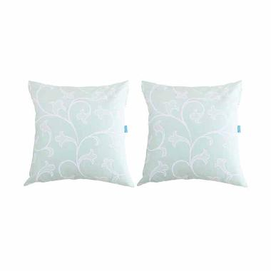 Eolins Damask Selena JSPS050 Sarung Bantal Sofa - Hijau [2 pcs]