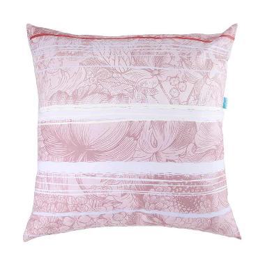 Eolins Bunga Cornelia JSPS-5004 Ungu Sarung Bantal Sofa [50x50 cm]