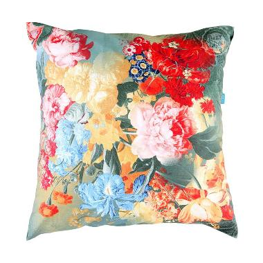 Eolins Bunga Patricia JSPS-5006 Hijau Sarung Bantal Sofa [50x50 cm]