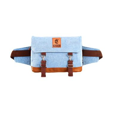 Esgotado Cinturo Primeiro Light Blue Denim Tas Selempang