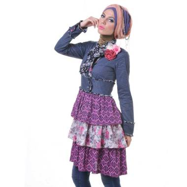 Esme Dress E-011210 Biru - Pink     ...