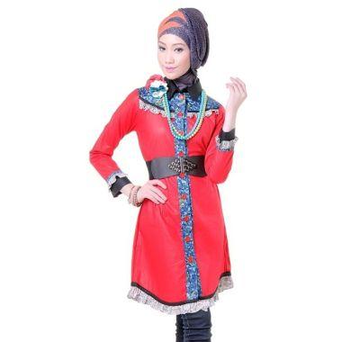 Esme Shortdress E-011011 Merah - Mo ...