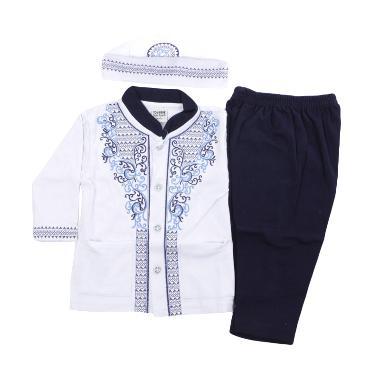 Eunique Setelan Baju Koko Anak - Hitam