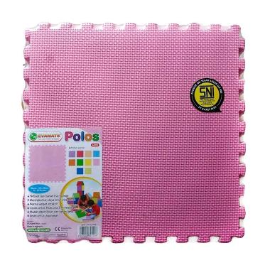 Evamat Karpet Puzzle Polos Pink 30x30cm [10pcs]