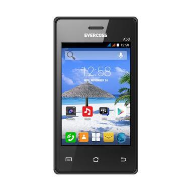 Evercoss A53 Smartphone - Black [512 MB/256 MB]