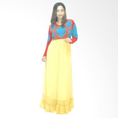 Ezpata Zuri Bordir Rajut Long Dress - Kuning