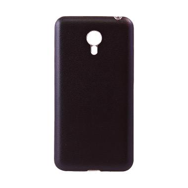 Fashion Leather Hitam Backcase Casing for Meizu M2 Note