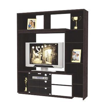 FCENTER Lemari Hias TV WU 8213 Wenge - With High Gloss