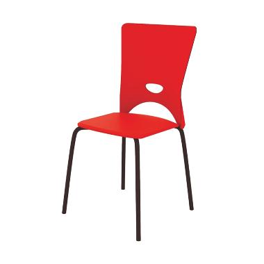 Fcenter M-FC003 Food Court Chairs - Merah