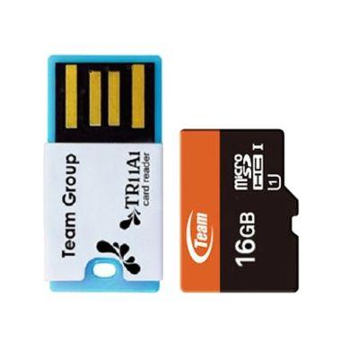 Team UHS-I Memory Card [16 GB] + Card Reader