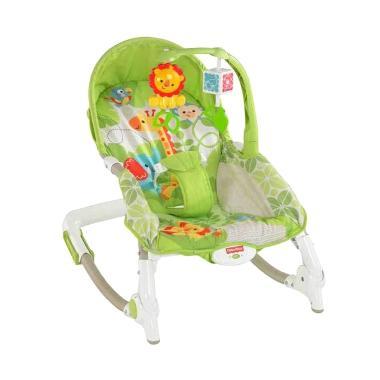 Fisher Price Portable Rocker Mainan Bayi - Hijau [Newborn To Toddler]