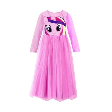 Flower Kids Dress Long Pony Lilac