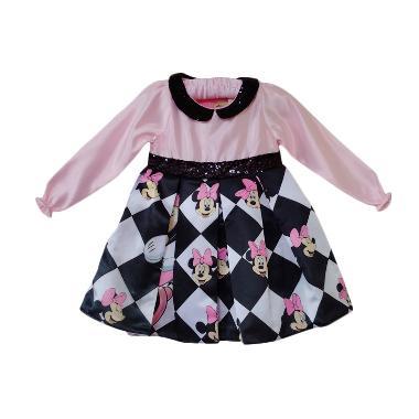 Flower Kids Minnie Mouse Long Sleeve Dress Anak