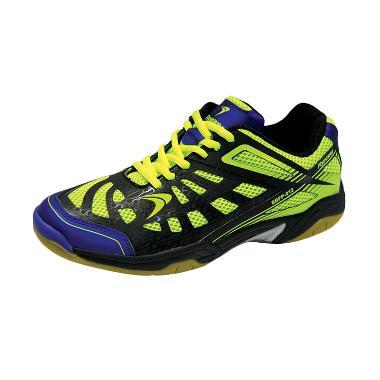 Flypower Losari Sepatu Badminton - Citrus Black Blue