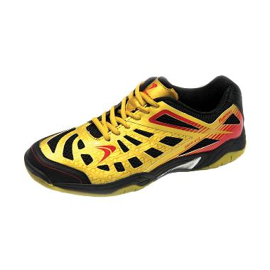 Flypower Losari Sepatu Badminton - Gold Red Black