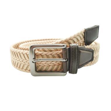 Fon Belt Braid Leather Ikat Pinggang - Cream