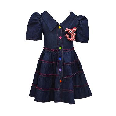 For Kids Collection 1182 Semi Jeans Dress Anak