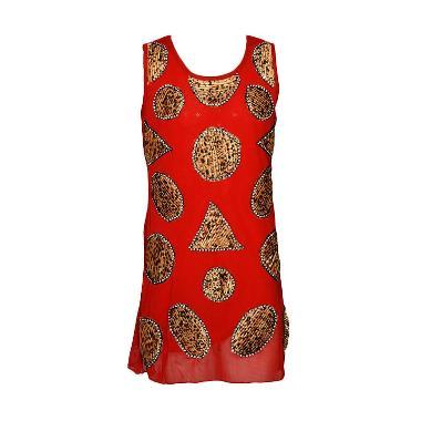 For Kid's Collection Dress Tile Mot ... an Anak Perempuan - Merah