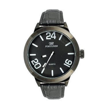 Fortuner FT037FB Casual Jam Tangan Pria - Black