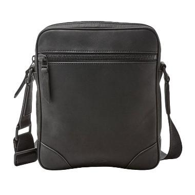 Fossil MBG 9266001 Wright City Bag Tas Selempang Pria - Black