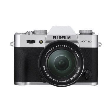 Fujifilm X-T10 Kit XC16-50mm F3.5-5.6 OIS Silver Kamera Mirrorless