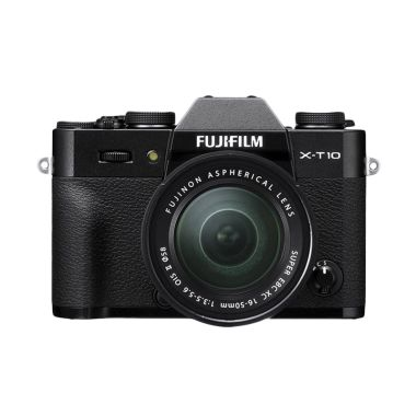 Fujifilm X-T10 Kit XC16-50mm F3.5-5.6 OIS Black Kamera Mirrorless