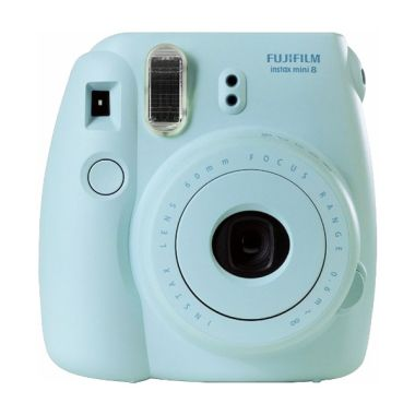 Fujifilm Instax Mini 8 Biru + 1 pack Instax Paper Kamera Polaroid