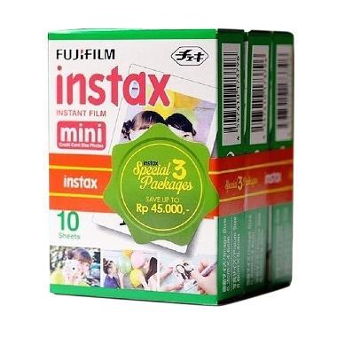 Fujifilm Refill Instax Mini Singlepack Plain Film [3 Pack]
