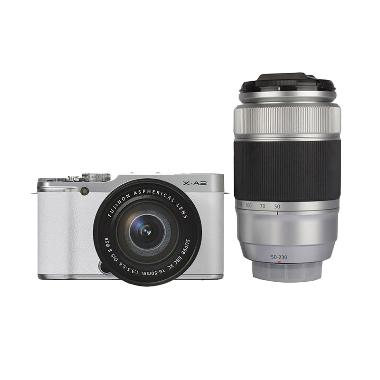 FUJIFILM X-A2 Double Kit XC16-50mm + XC50-230mm White + Screen Guard + SDHC 16GB + Filter UV 58mm (2)