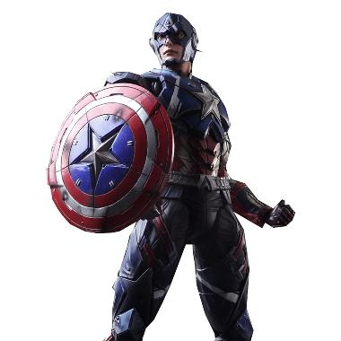 Funbrick Square Enix  Play Arts Captain America Action Figure