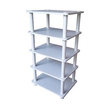 FUNIKA 13161 WH-BK/WH 4 Tier Storage Shelf Rak Pajangan