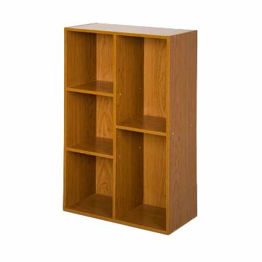 DIJAMIN MURAH - FUNIKA 13226 DBR Coklat Tua Rak Buku [5 Kotak]