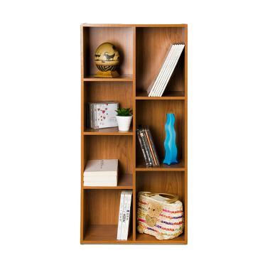 FUNIKA 13227 DBR Rak Buku - Coklat Tua [7 Kotak]
