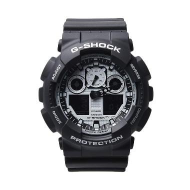G-Shock GA-100BW-1A Jam Tangan Unisex - Black White