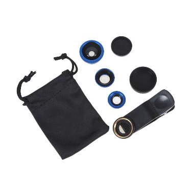G-smart Fisheye 3 in 1 Wide Macro C ... r Smartphone + Pouch Biru