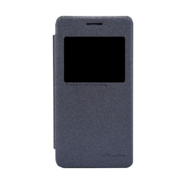 Nillkin Sparkle Leather Black Casing for Asus Zenfone 4S A450CG