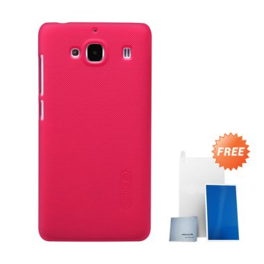 Nillkin Super Frosted Shield Red Casing for Xiaomi Redmi 2 + Screen Protector