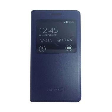Galaxy Navy Flip Cover Casing for Samsung Galaxy E5 E500F