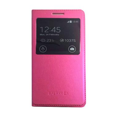Galaxy Flip Cover Casing for Samsung Galaxy E5 E500F - Pink
