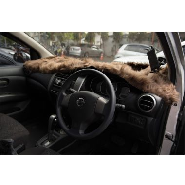Galva Coklat Cover Dashboard Mobil