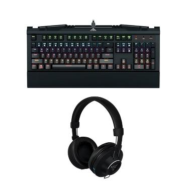 Gamdias Bundle Hermes 7 Color Keyboard Bundling Razer Adaro Wireless Headphone
