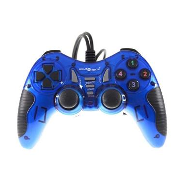Gameshock Single Getar Turbo Biru Gamepad