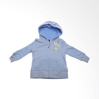 Branded Outlet BO 456 Baby Flowers Blue Jaket Anak Perempuan