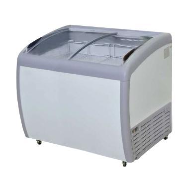 Gea Sd-260BY Sliding Curve Glass Freezer[260ltr] Putih