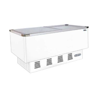 Gea Sd-376Bp Sliding Flat Glass Freezer - Putih