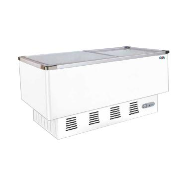 Gea Sd-636Bp Sliding Flat Glass Freezer - Putih