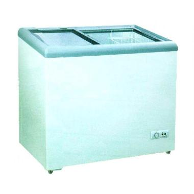 GEA Sliding Flat Glass SD-186 Freezer - Putih