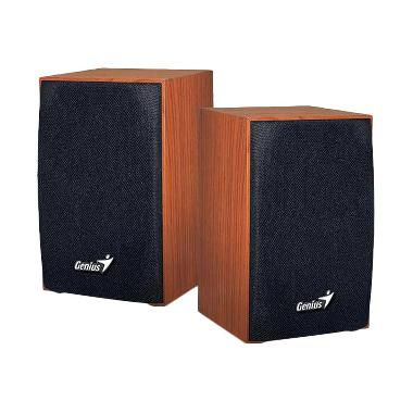 Genius SP-HF160 Wood Speaker - Coklat