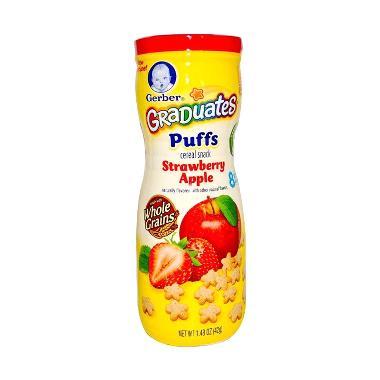 Gerber Graduates Puffs Strawberry Apple Snack Bayi